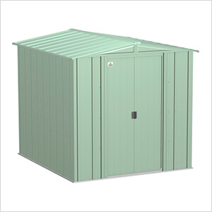 Classic 6 x 7 ft. Storage Shed in Sage Green