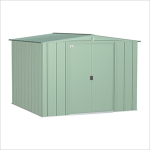Classic 8 x 8 ft. Storage Shed in Sage Green
