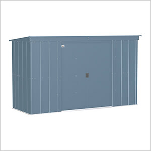 Classic 10 x 4 ft. Storage Shed in Blue Grey