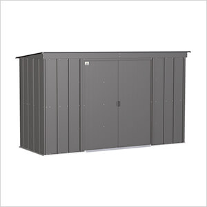 Classic 10 x 4 ft. Storage Shed in Charcoal