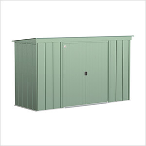 Classic 10 x 4 ft. Storage Shed in Sage Green