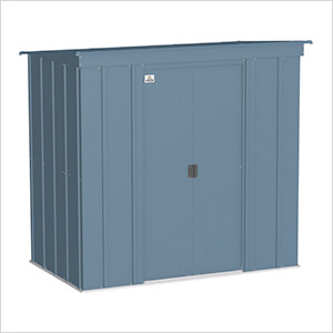 Classic 6 x 4 ft. Storage Shed in Blue Grey