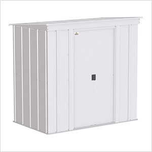Classic 6 x 4 ft. Storage Shed in Flute Grey