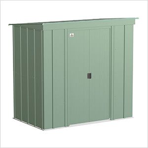 Classic 6 x 4 ft. Storage Shed in Sage Green