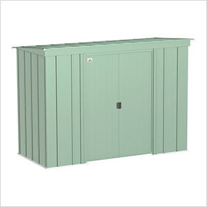 Classic 8 x 4 ft. Storage Shed in Sage Green