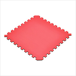 Truly Reversible Black and Red Interlocking Foam Flooring (6-Pack)