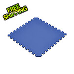 Norsk-Stor Truly Reversible Black and Blue Interlocking Foam Flooring (6-Pack)