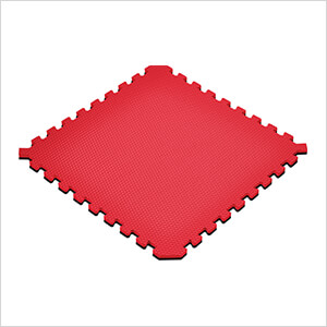 Truly Reversible Black and Red Interlocking Foam Flooring (4-Pack)