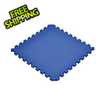 Norsk-Stor Truly Reversible Black and Blue Interlocking Foam Flooring (4-Pack)