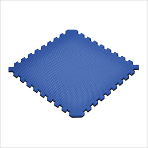 Truly Reversible Black and Blue Interlocking Foam Flooring (4-Pack)