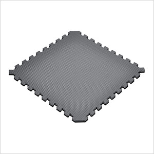 Truly Reversible Black and Grey Interlocking Foam Flooring (4-Pack)