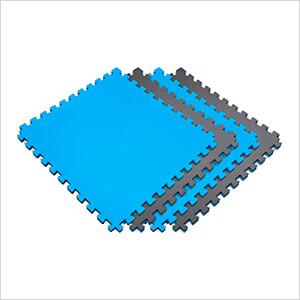 Reversible Black and Blue Interlocking Foam Flooring (4-Pack)