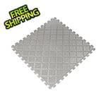 Norsk-Stor Metallic Pewter 18.3 in. x 18.3 in. x 0.25 in. PVC Floor Tiles - Raised Diamond Pattern
