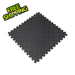 Norsk-Stor Black 18.3 in. x 18.3 in. x 0.25 in. PVC Floor Tiles - Raised Diamond Pattern