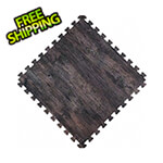 Norsk-Stor Reversible Dark Walnut and Black Interlocking Foam Flooring (4-Pack)