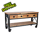 "DuraMax 72"" Industrial Metal and Wood Workbench with Drawers"