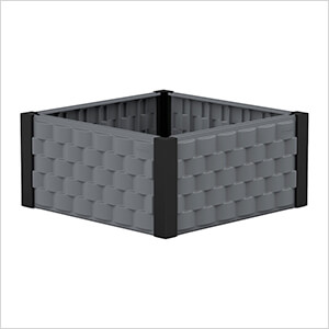 Square Garden Bed - Grey and Black