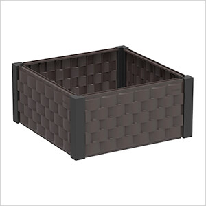 Square Garden Bed - Brown and Black