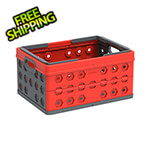 DuraMax Foldable Crate / Basket in Red and Grey