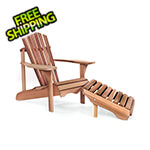All Things Cedar Adirondack Chair and Ottoman