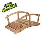 All Things Cedar 6-Foot Garden Bridge with Side Rails