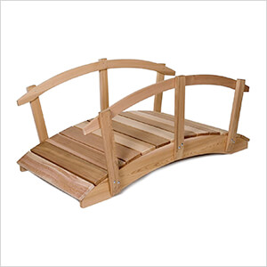 6-Foot Garden Bridge with Side Rails