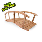 All Things Cedar 8-Foot Garden Bridge with Side Rails