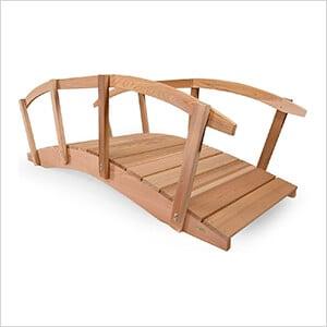 8-Foot Garden Bridge with Side Rails