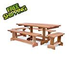 All Things Cedar 5-Piece 6-Foot Market Table Set