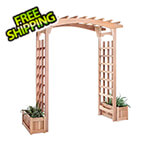 All Things Cedar Pagoda Arbor Planter Box Set