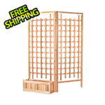 All Things Cedar 32-Inch Planter Box and Trellis Privacy Screens