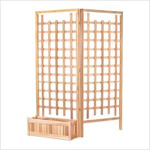 32-Inch Planter Box and Trellis Privacy Screens