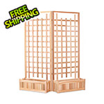 All Things Cedar Twin 32-Inch Planter Box and Trellis