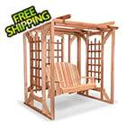 All Things Cedar Cedar Pergola Swing Set