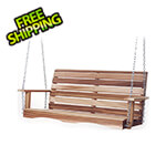 All Things Cedar 4-Foot Porch Swing with Comfort Swing Springs