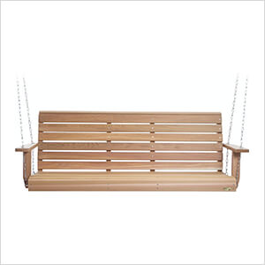 5-Foot Porch Swing with Comfort Swing Springs