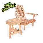 All Things Cedar 2-Piece Adirondack Tripod Table Set