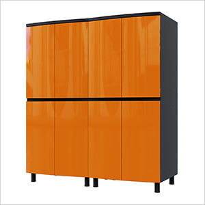 5' Premium Traffic Orange Garage Cabinet System