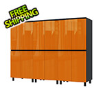 Contur Cabinet 7.5' Premium Traffic Orange Garage Cabinet System