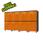 Contur Cabinet 10' Premium Traffic Orange Garage Cabinet System