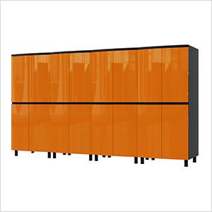 10' Premium Traffic Orange Garage Cabinet System