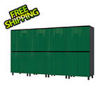 Contur Cabinet 10' Premium Racing Green Garage Cabinet System