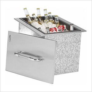 Stainless Steel Drop-In Outdoor Ice Chest