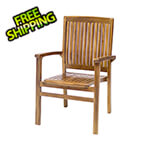 All Things Cedar Teak Stacking Chair