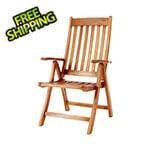 All Things Cedar 5-Position Folding Arm Chair