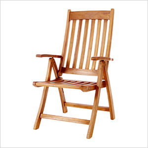 5-Position Folding Arm Chair