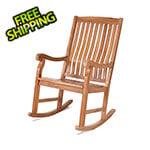 All Things Cedar Teak Rocking Chair
