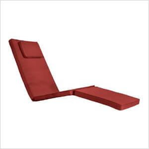 Red Steamer Chair Cushion