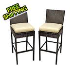 KoKoMo Grills Rattan Outdoor Barstools (2 Pack)