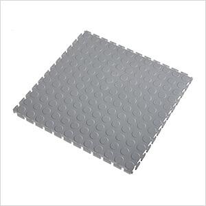 7mm Light Grey PVC Coin Tile (10 Pack)